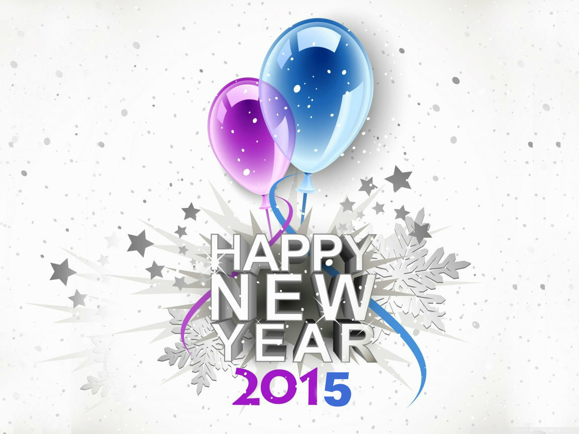 3D Happy New Year 2015 by onehdwallpapercom 1152x864