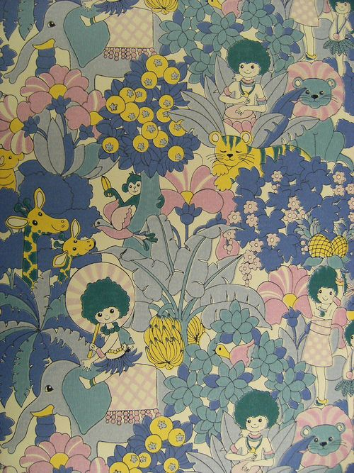 Wallpaper Designs Wallpapers Pattern Children Wallpapers 1970S 500x667