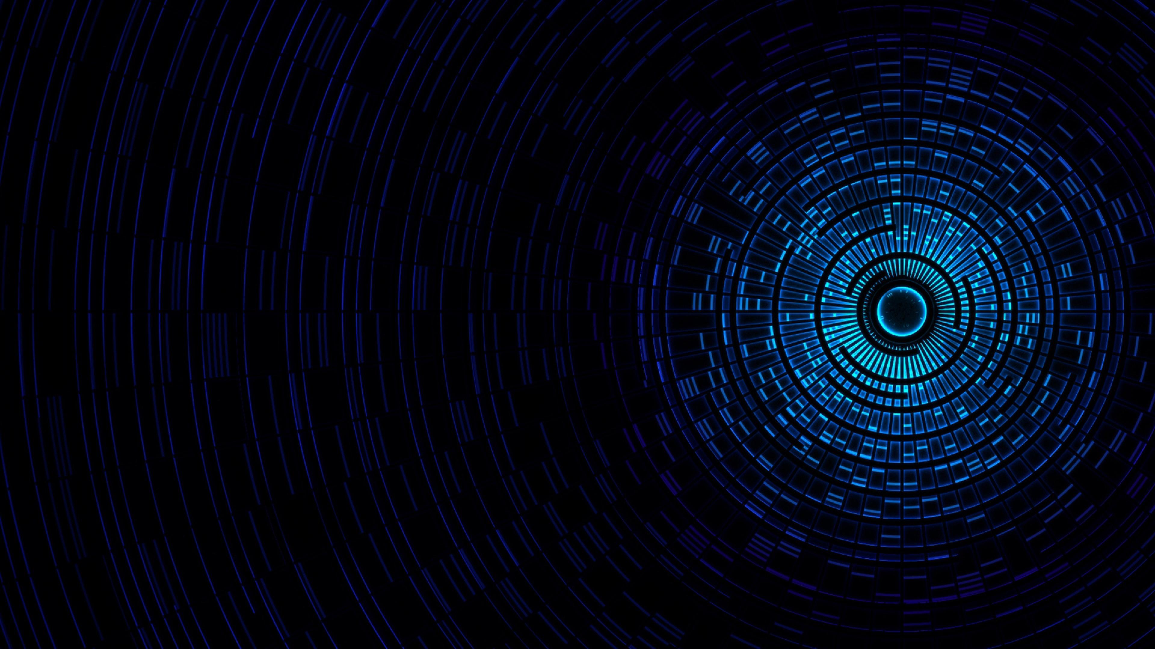 Passage Light Black Blue Wallpaper Background 4K Ultra HD 3840x2160