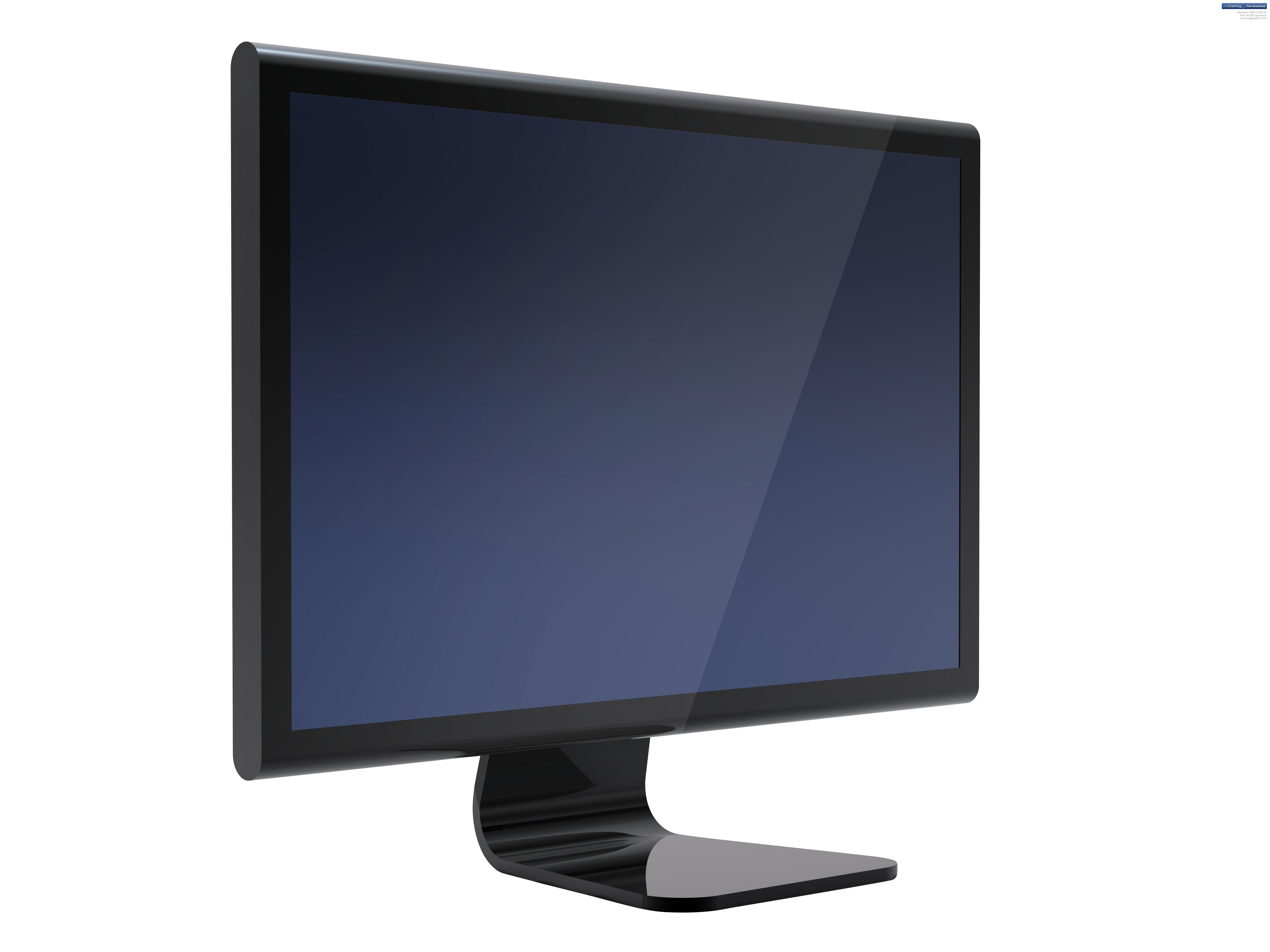 Black LCD display PSDGraphics 5000x3750