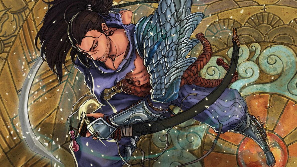 League of Legends Yasuo fanart by kumagzter on DeviantArt