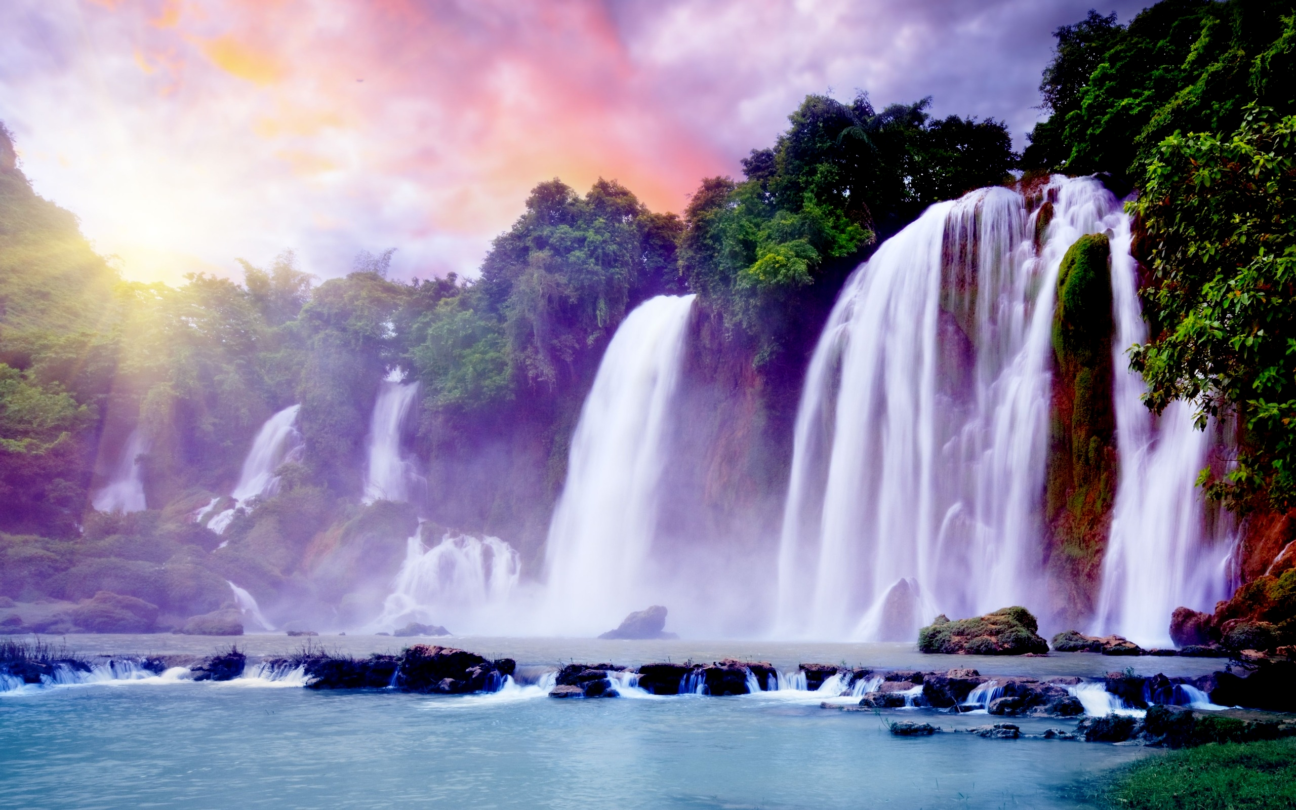 Waterfalls Wallpaper   PARADISE FALLS Wallpapers   HD Wallpapers 2560x1600