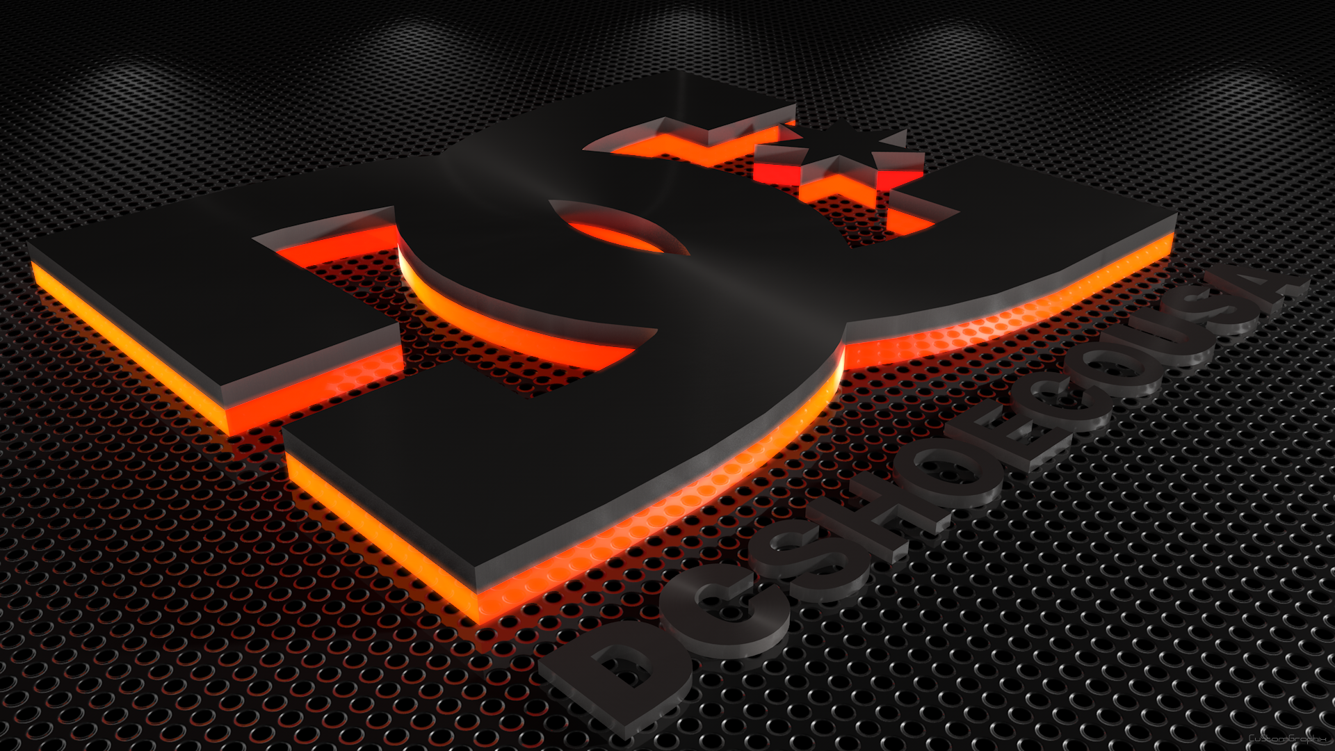 C4D DC shoes logo wallpaper by xCustomGraphix 1920x1080