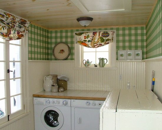 Traditional Laundry Room Patterned Wallpaper Presley Cottage OLPOS   Beautiful Wallpaper for Laundry Room WallpaperSafari. Simple Comfort Room Design