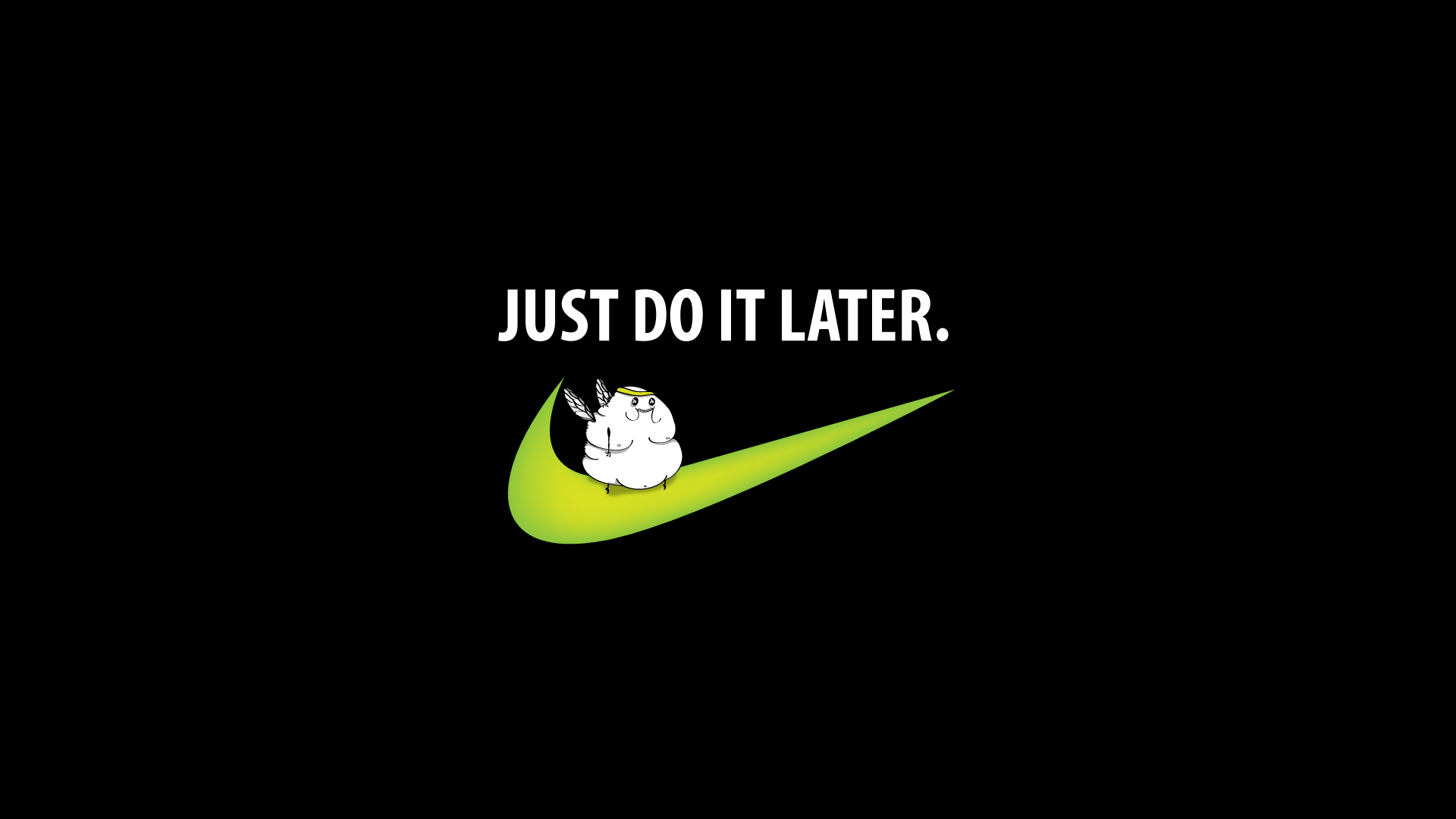 Nike Motivational Quotes Wallpaper Just do it later wallpaper 1920x1080