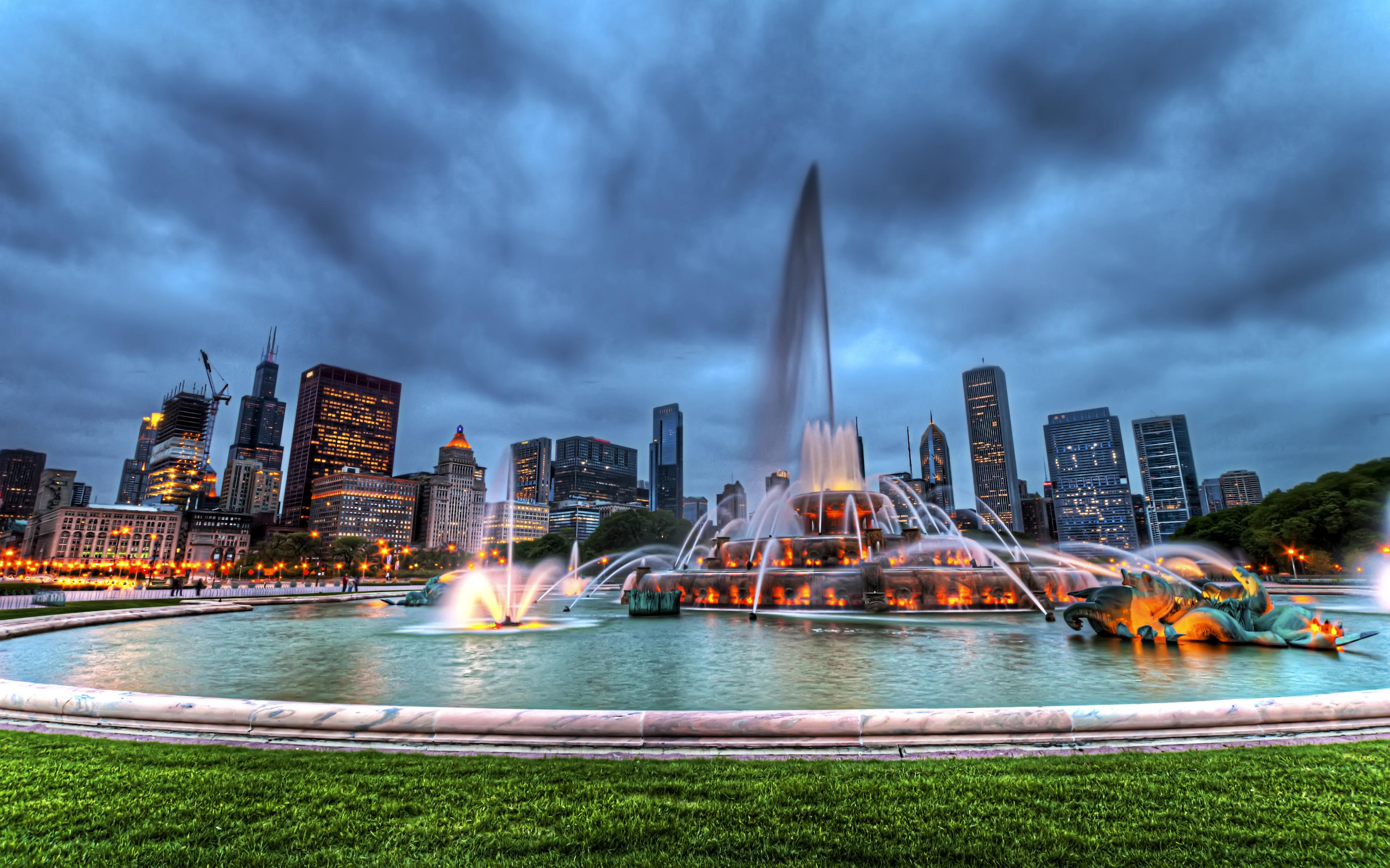 Free Download Buckingham Fountain Chicago Illinois United States