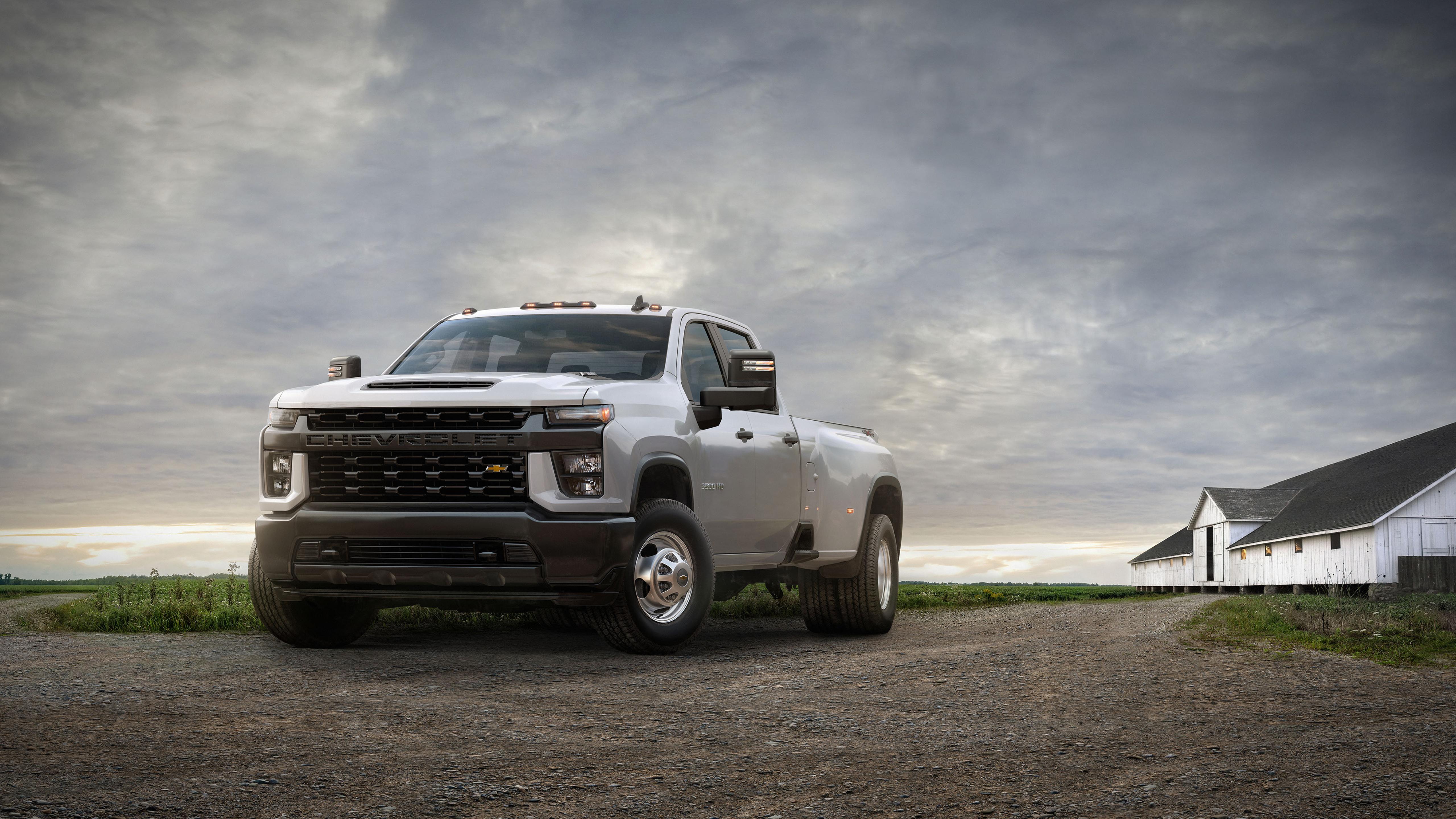 2020 Chevrolet Silverado 3500 HD DRW Work Truck 4K Wallpaper HD 5120x2880