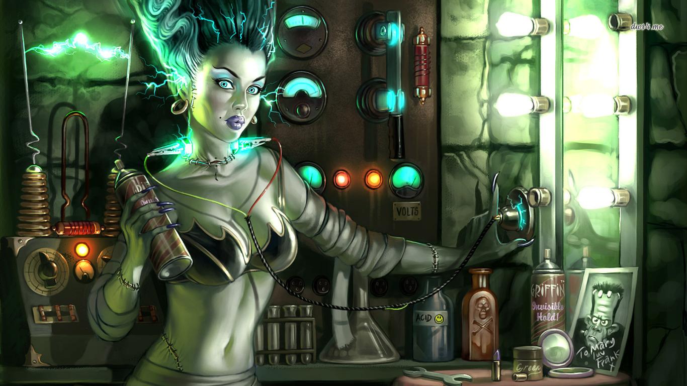 Bride of Frankenstein wallpaper   Fantasy wallpapers   36653 1366x768