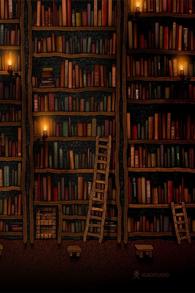 Bookcase Retina Iphone 4 Wallpapers 640x960 Hd Mobiles