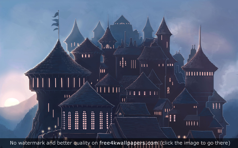 Hogwarts 5K HD wallpaper 2880x1800
