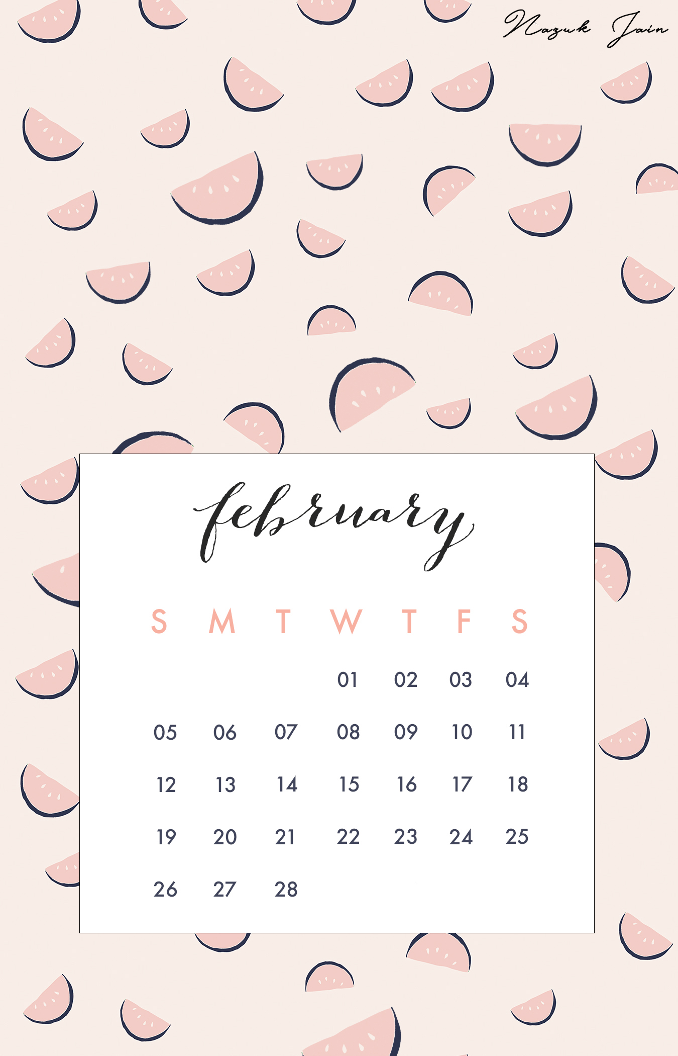 25 best ideas about February Calendar 2017 1350x2100
