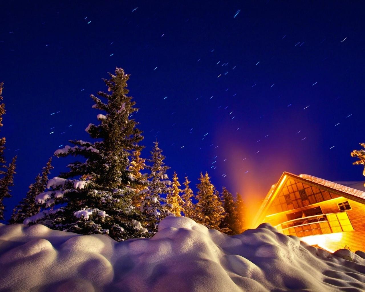 hd winter night wallpaper MEMES 1280x1024