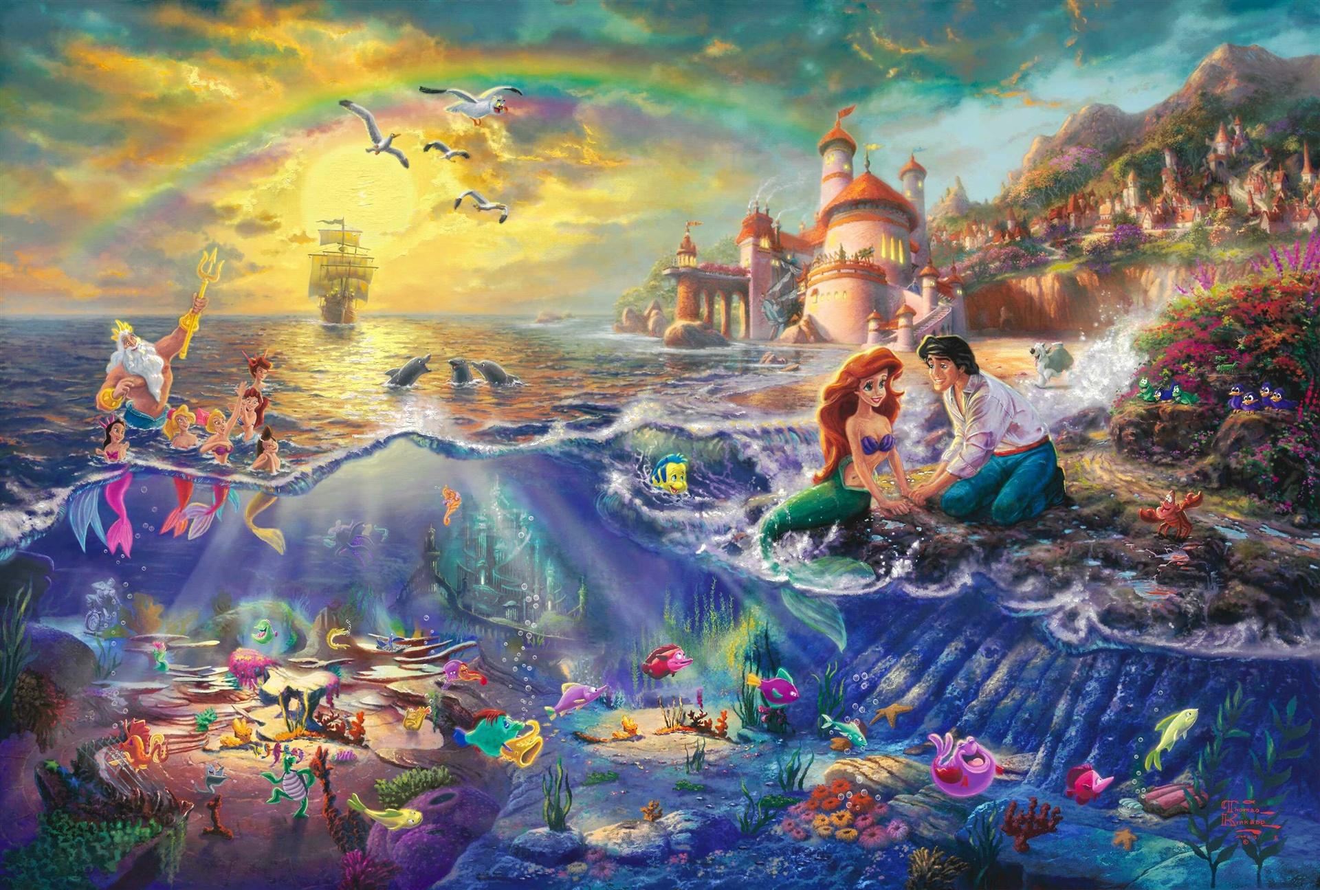 4K wallpaper   Disney Princess   Thomas kinkade painting princess 1920x1295