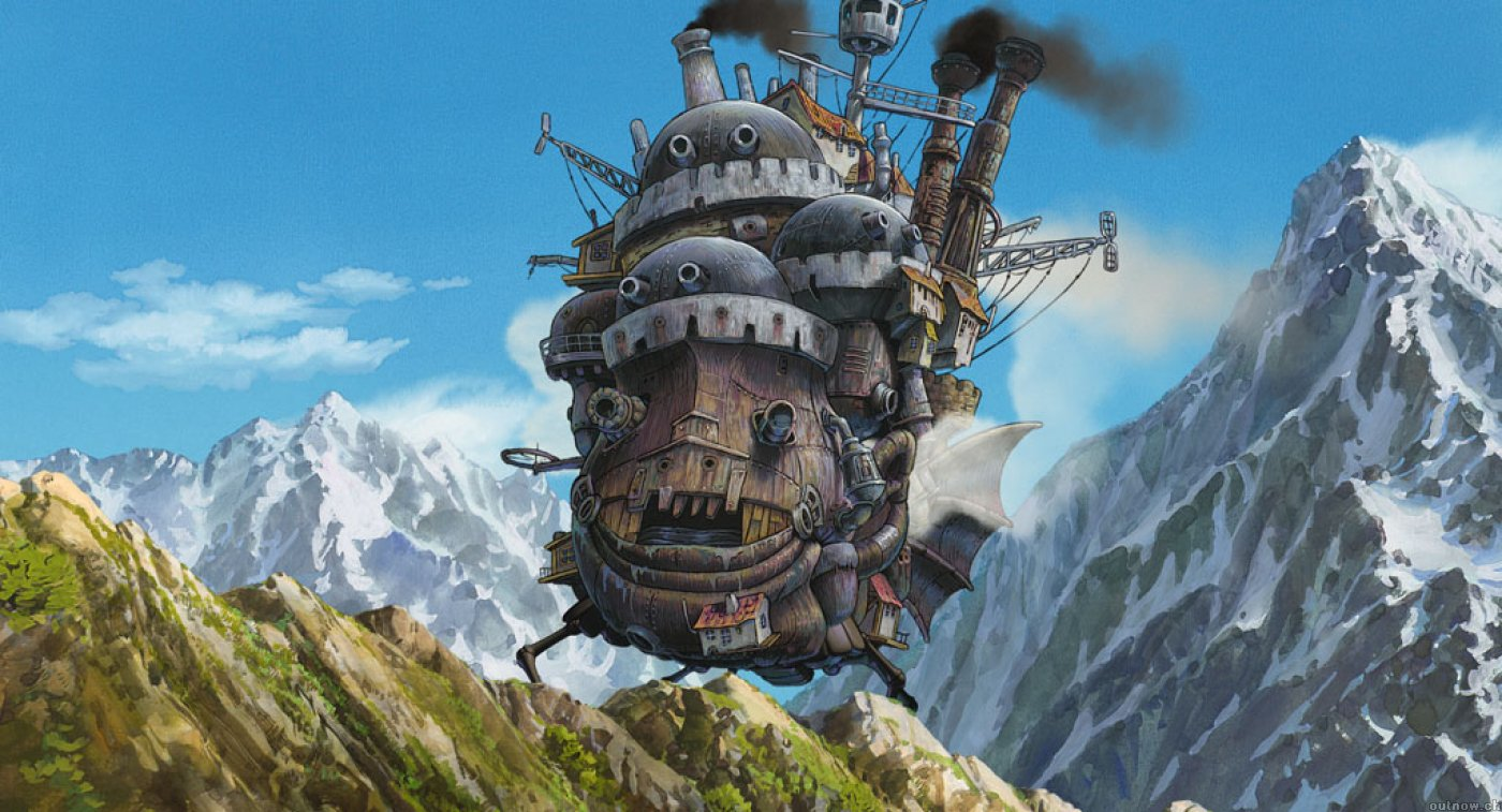 Studio Ghibli Wallpaper 1400x757 Studio Ghibli Howls Moving Castle 1400x757