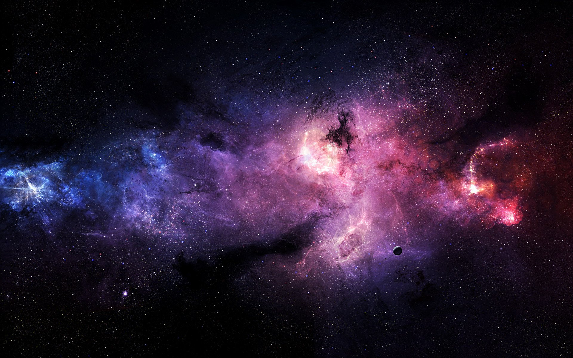 Purple Outer Space Wallpaper 19201200 20809 HD Wallpaper Res 1920x1200