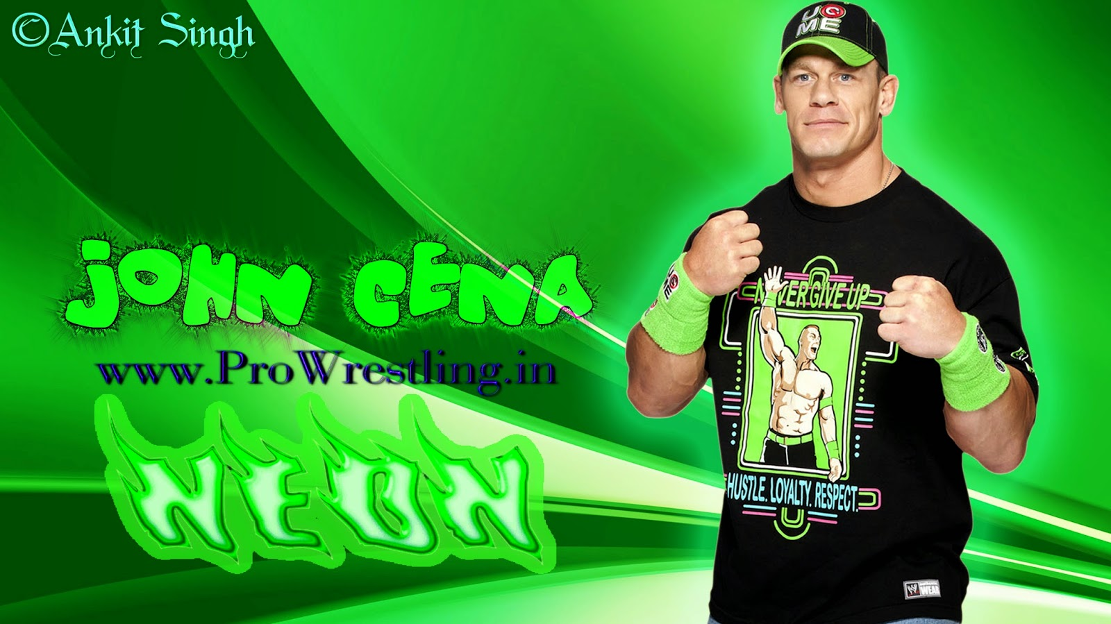 Wallpaper John Cena Brand New NEON HD Wallpaper 2014 By Ankit 1600x899