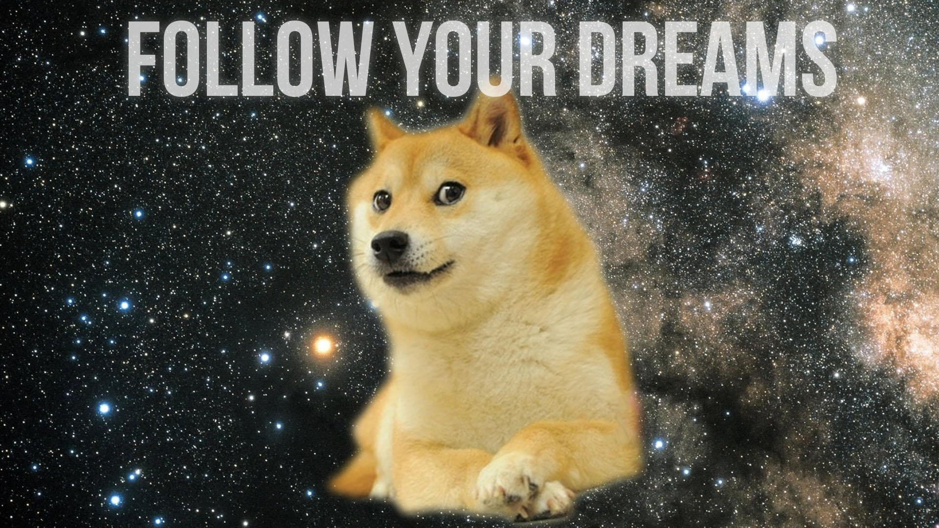Doge in SPACE   Doge Wallpaper 1920x1080 14011 1920x1080