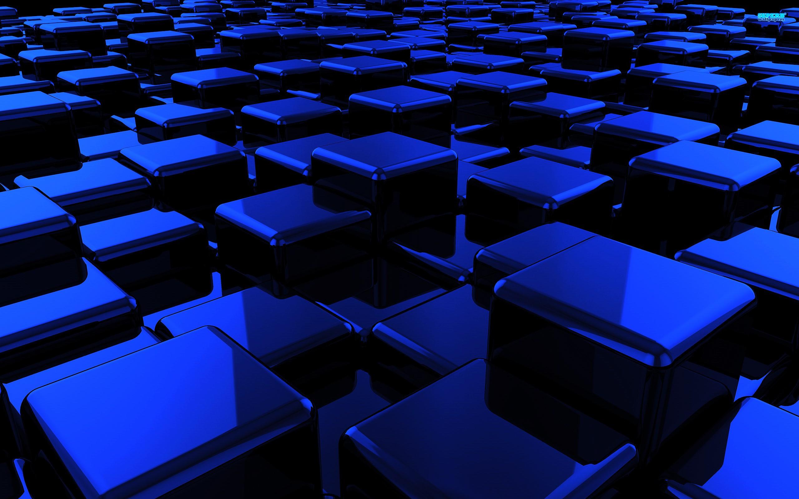 Blue Cubes Wallpaper 2560x1600 Blue Cubes 2560x1600