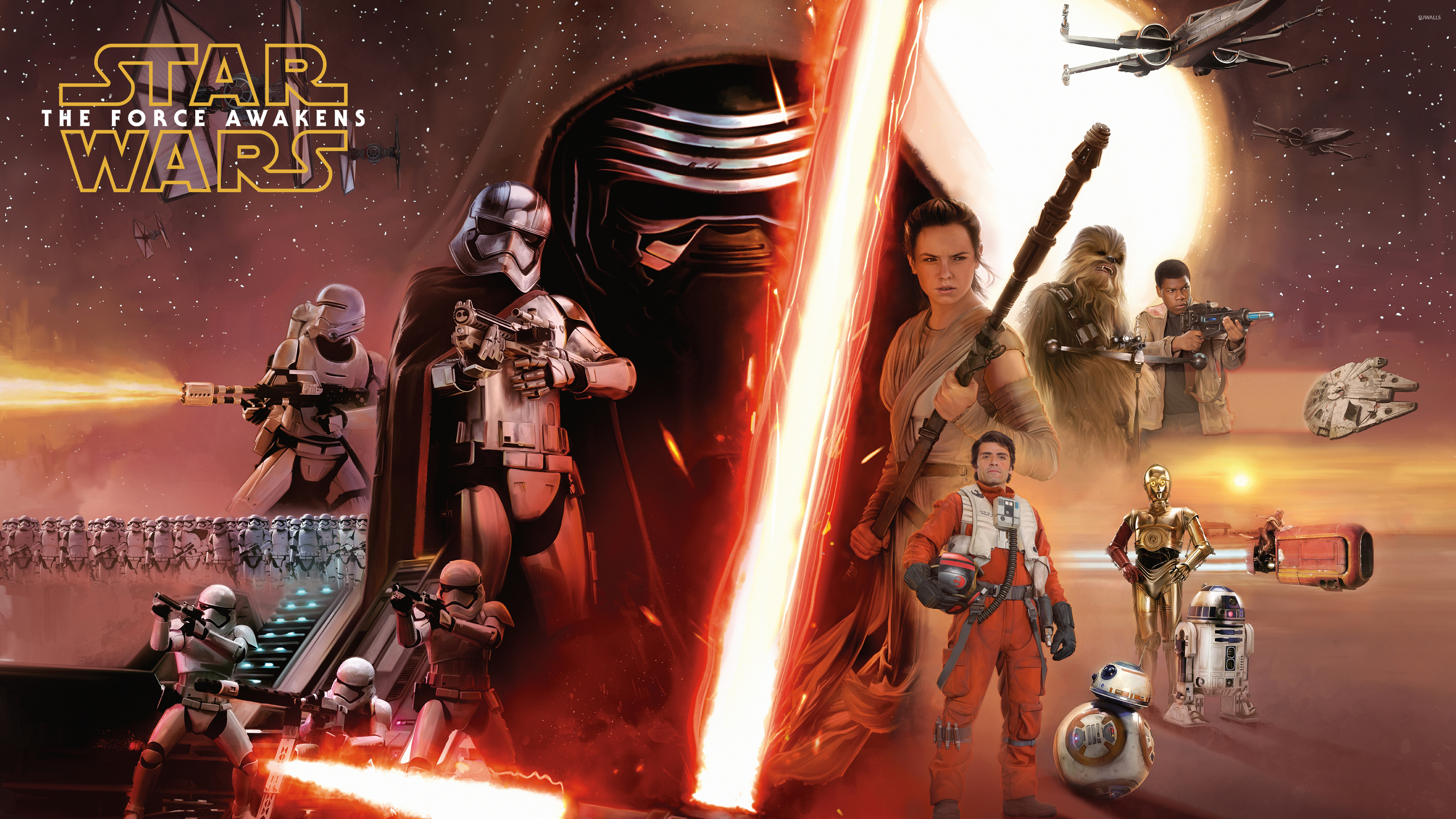 Free Download The Force Awakens Poster Wallpaper 30 Background