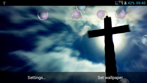 View bigger   Jesus Cross Live Wallpaper for Android screenshot 512x288