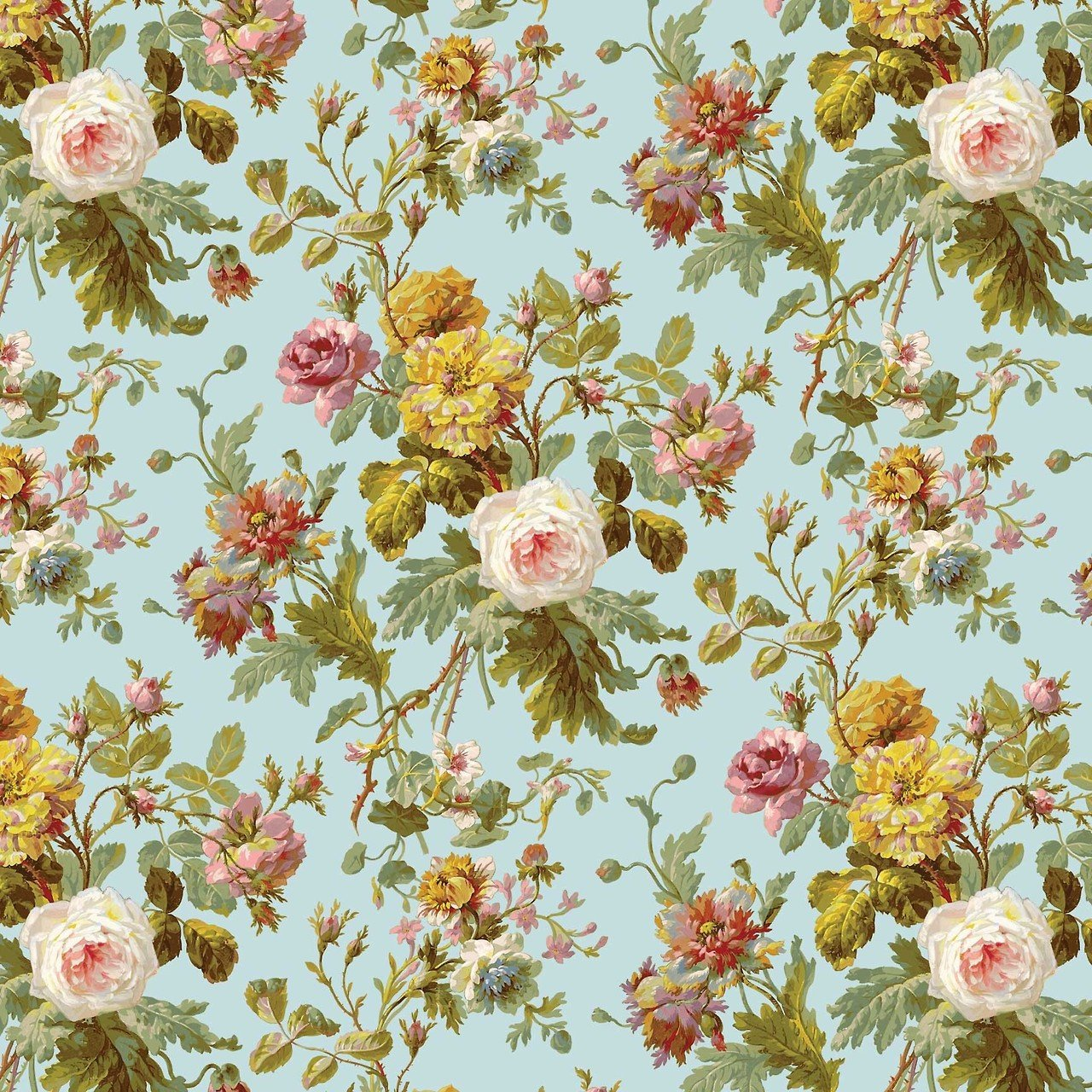 Vintage Floral Wallpaper Pattern Cool HD Wallpapers 1280x1280