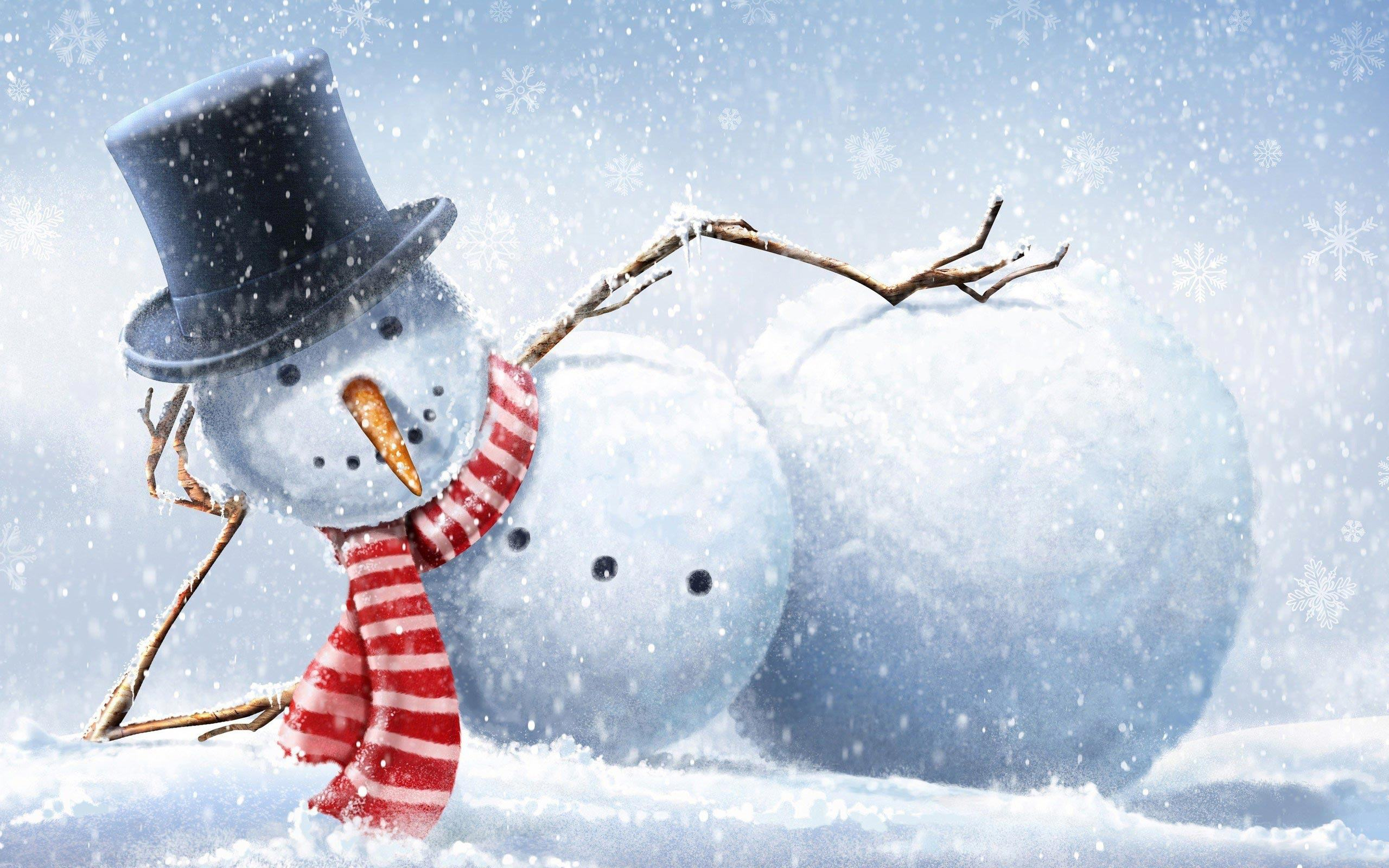 Pics Photos   Winter Wallpapers Winter Snowman Wallpapers 2560x1600