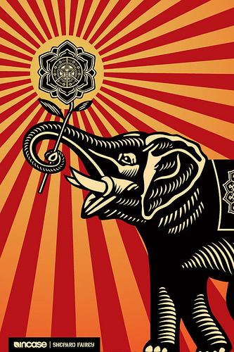 Shepard Fairey Wallpaper Obey Shepard fairey elephant 333x500
