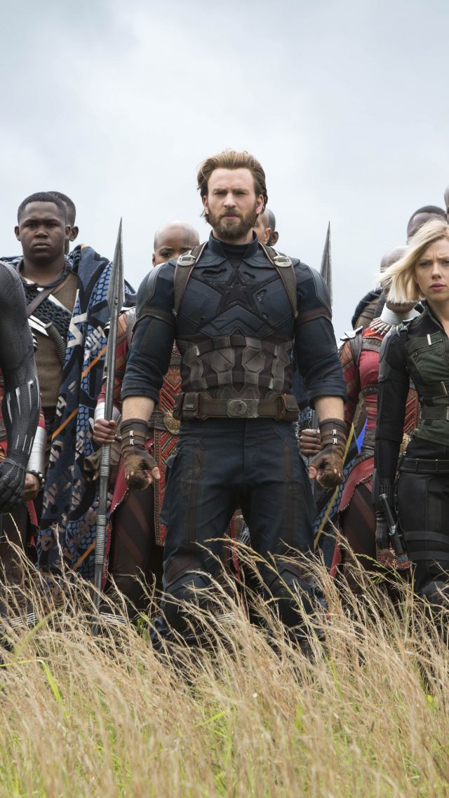 Wallpaper Avengers Infinity War Black Widow Captain America 640x1138