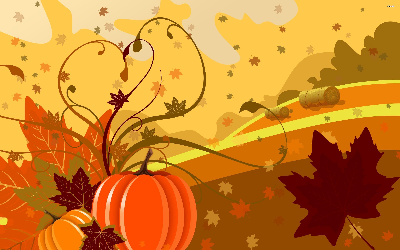 Pumpkin and leaves wallpaper   Digital Art wallpapers   1864 2880x1800