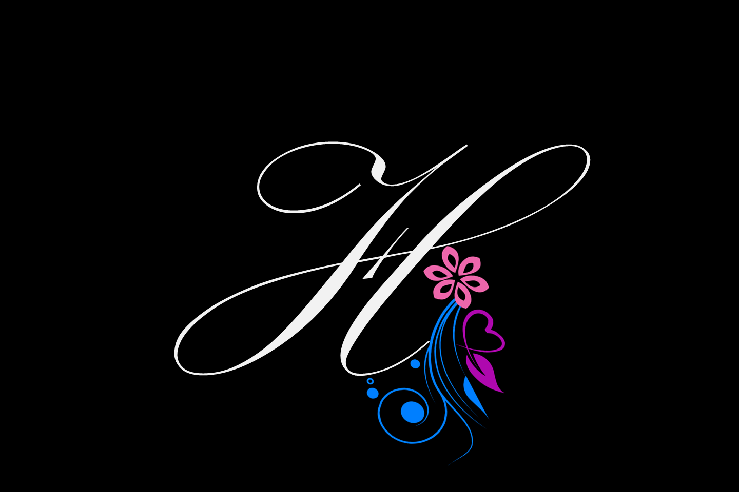 Letter H stylish hd wallpapers and fb covers 1440x960