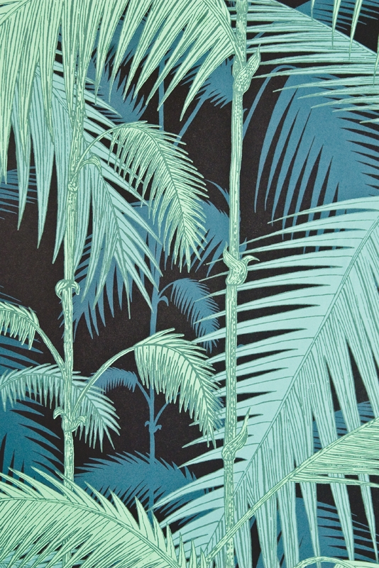 Palm Jungle Wallpaper Contemporary Illustrated Palm tree design 534x801