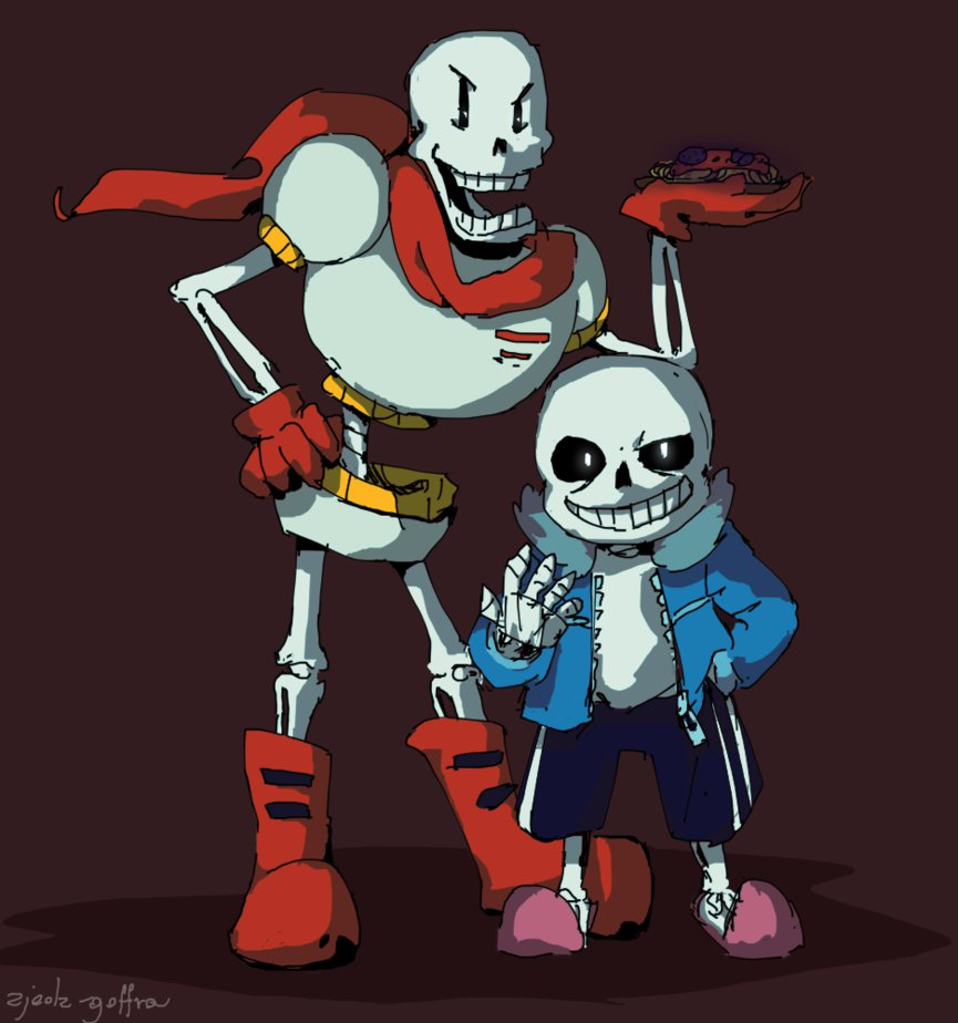 Undertale Papyrus and Sans by zjedz goffra 865x924