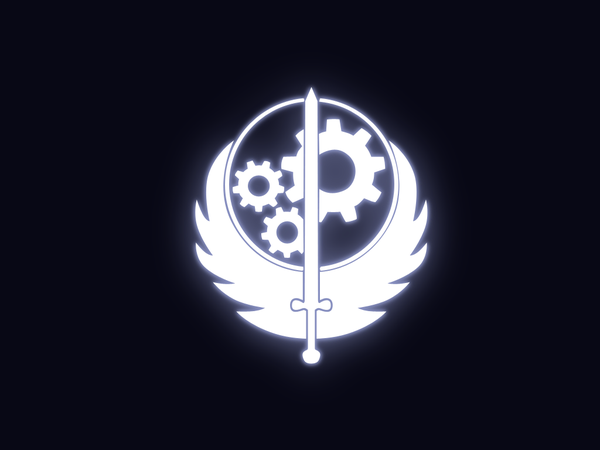 Glow Brotherhood of Steel by BaronOfEvil 600x450