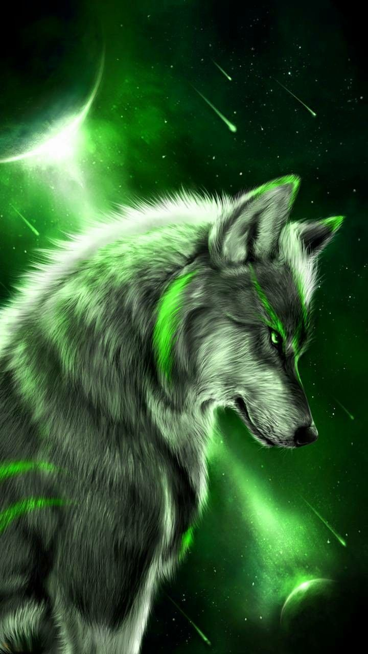 Green Wolf Wallpapers   Top Green Wolf Backgrounds 720x1280