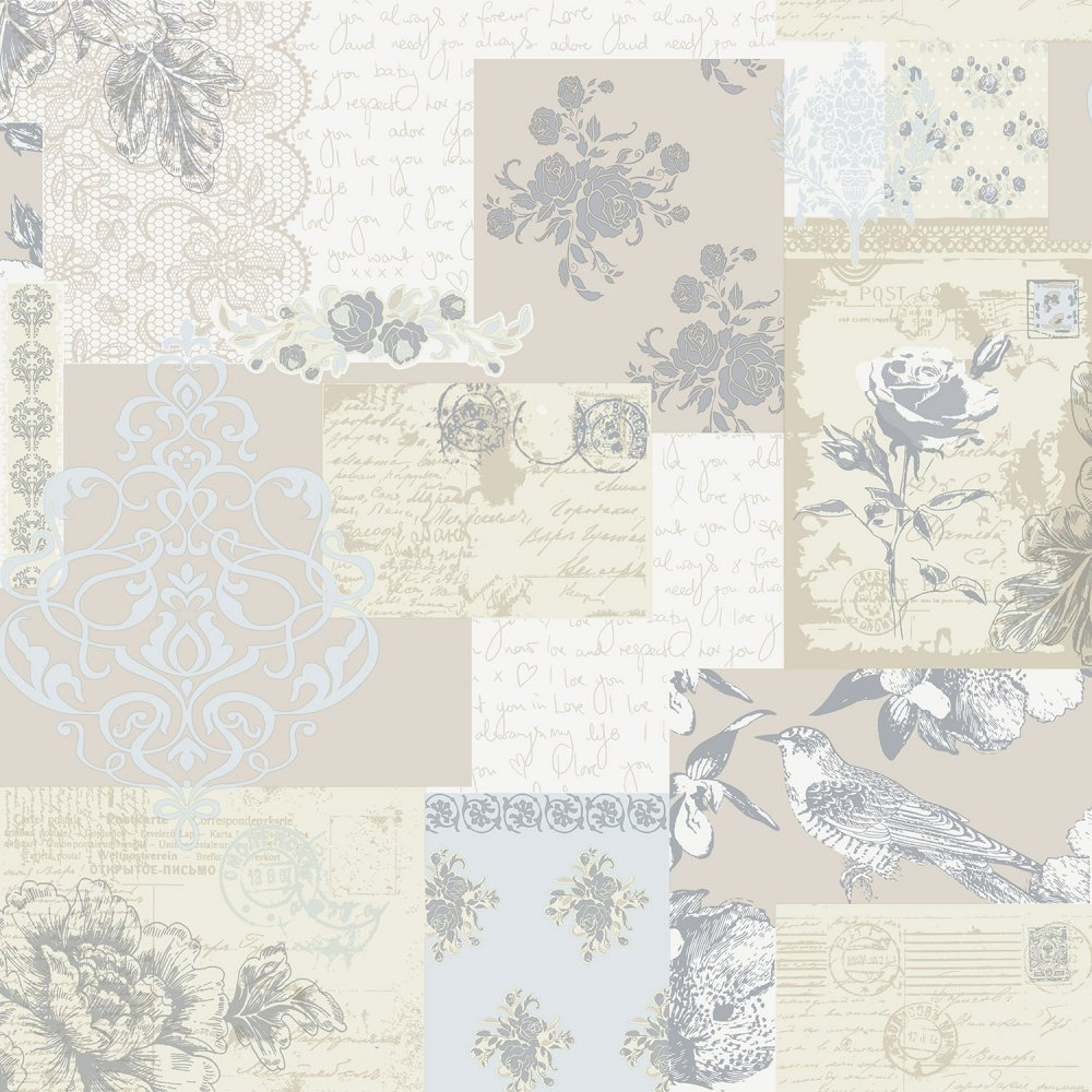 Love Letters Wallpaper Parchment   Coloroll from I love wallpaper UK 1000x1000