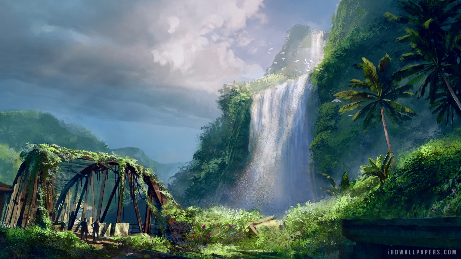 Far Cry 3 Waterfalls HD Wallpaper   iHD Wallpapers 1600x900