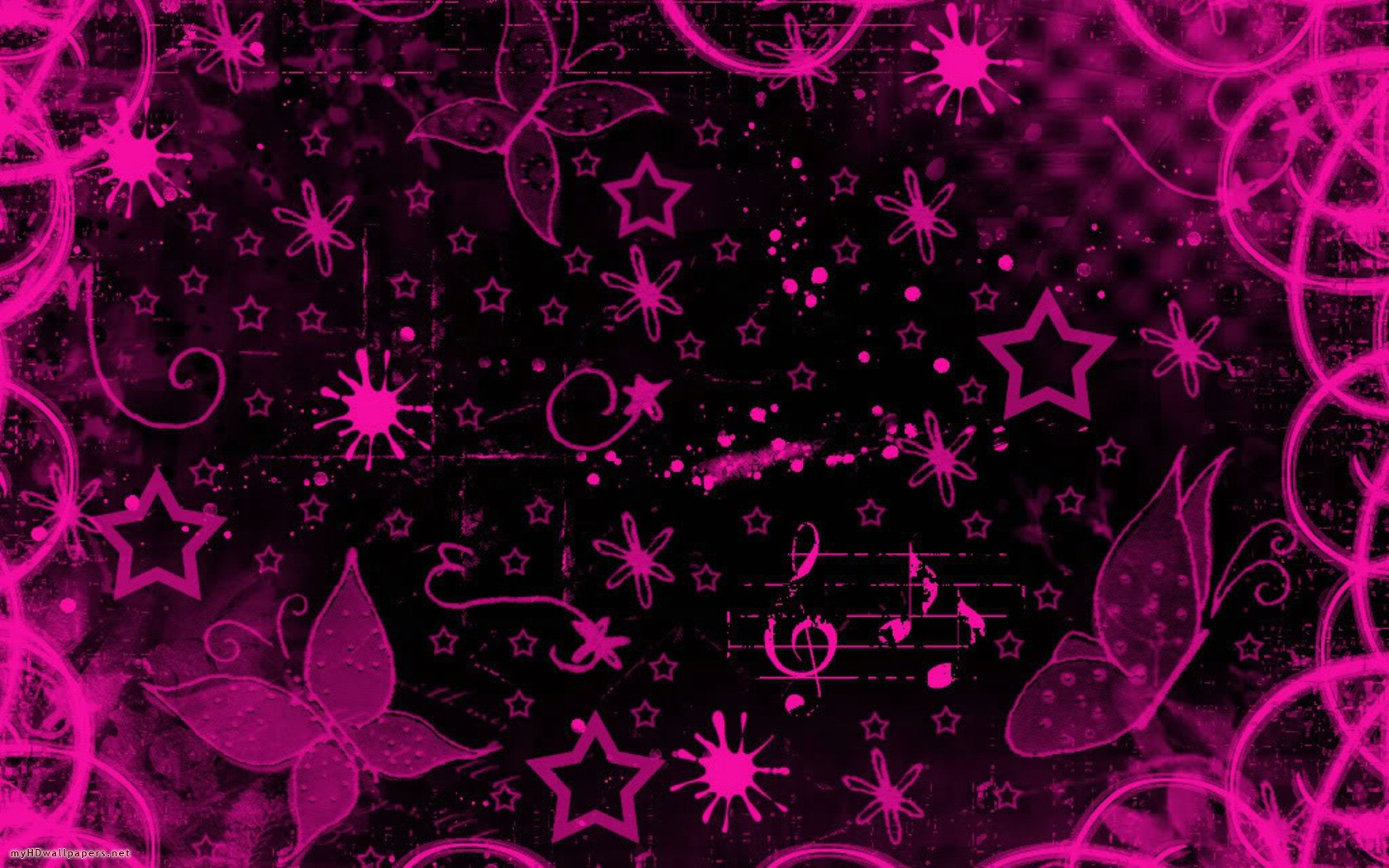 Pink black design   Desktop Wallpaper HD Wallpapers Download and 1680x1050