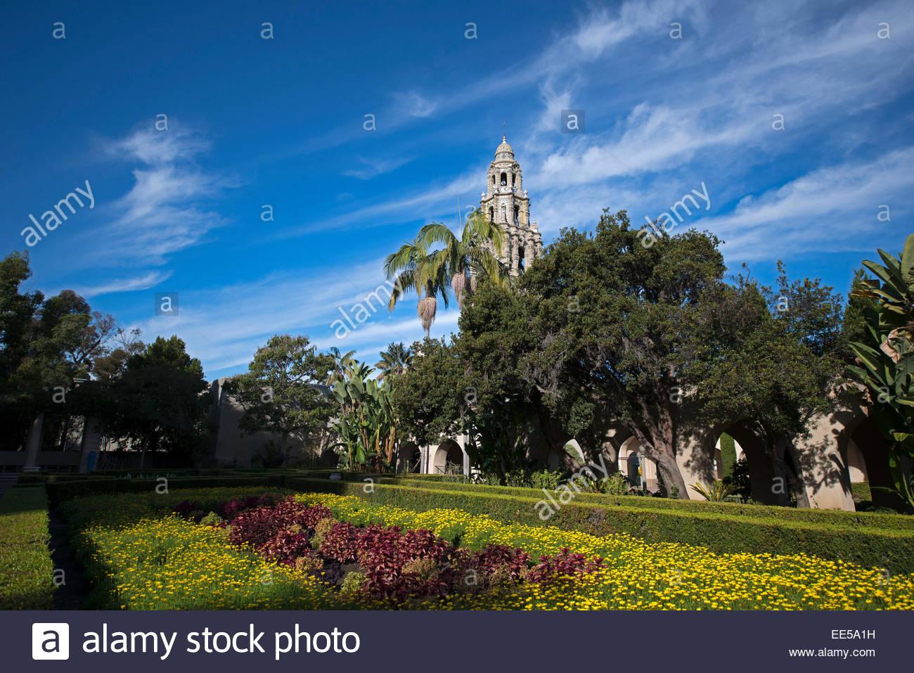 Alcazar Garden California Tower in Background Balboa Pack San 1300x957