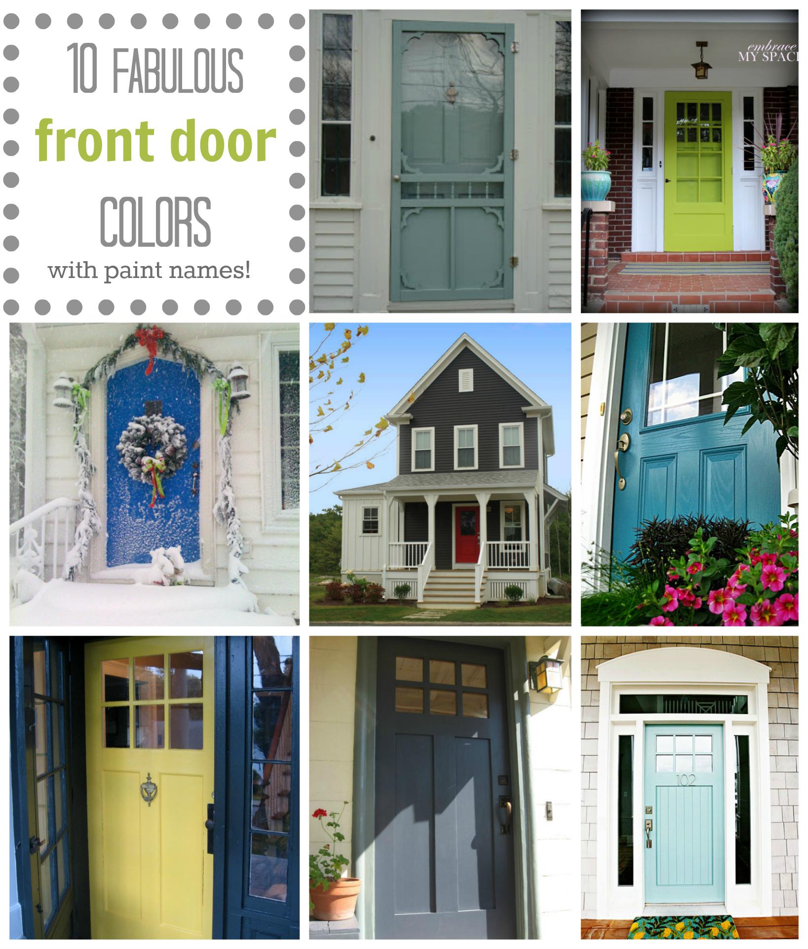 Benjamin Moore Front Door Paint httpapopofprettycom10 fab front 1637x1922