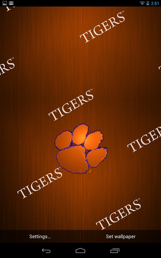 Clemson Live Wallpaper HD   Android Apps and Tests   AndroidPIT 563x900