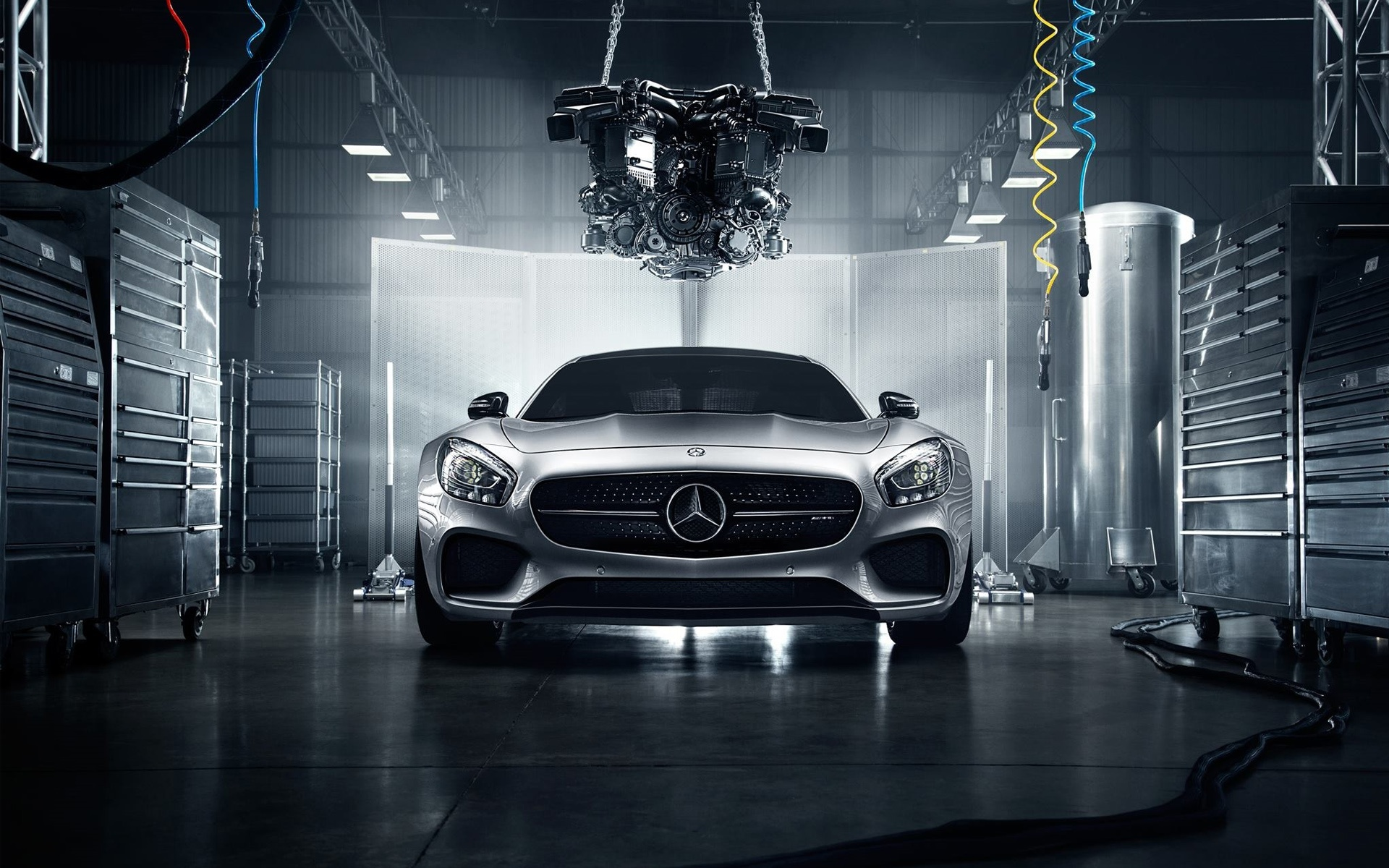 View Mercedes Benz Gts Amg Running With Smoke Wallpaper  Background