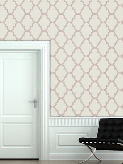 Distressed Trellis Peel and Stick Wallpaper by Swag Tots at Gilt 420x560