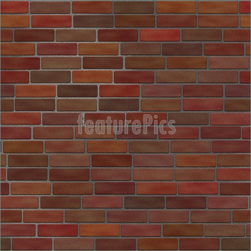 Illustration of Seamless Brick Wall    This brick wall texture tiles 500x500
