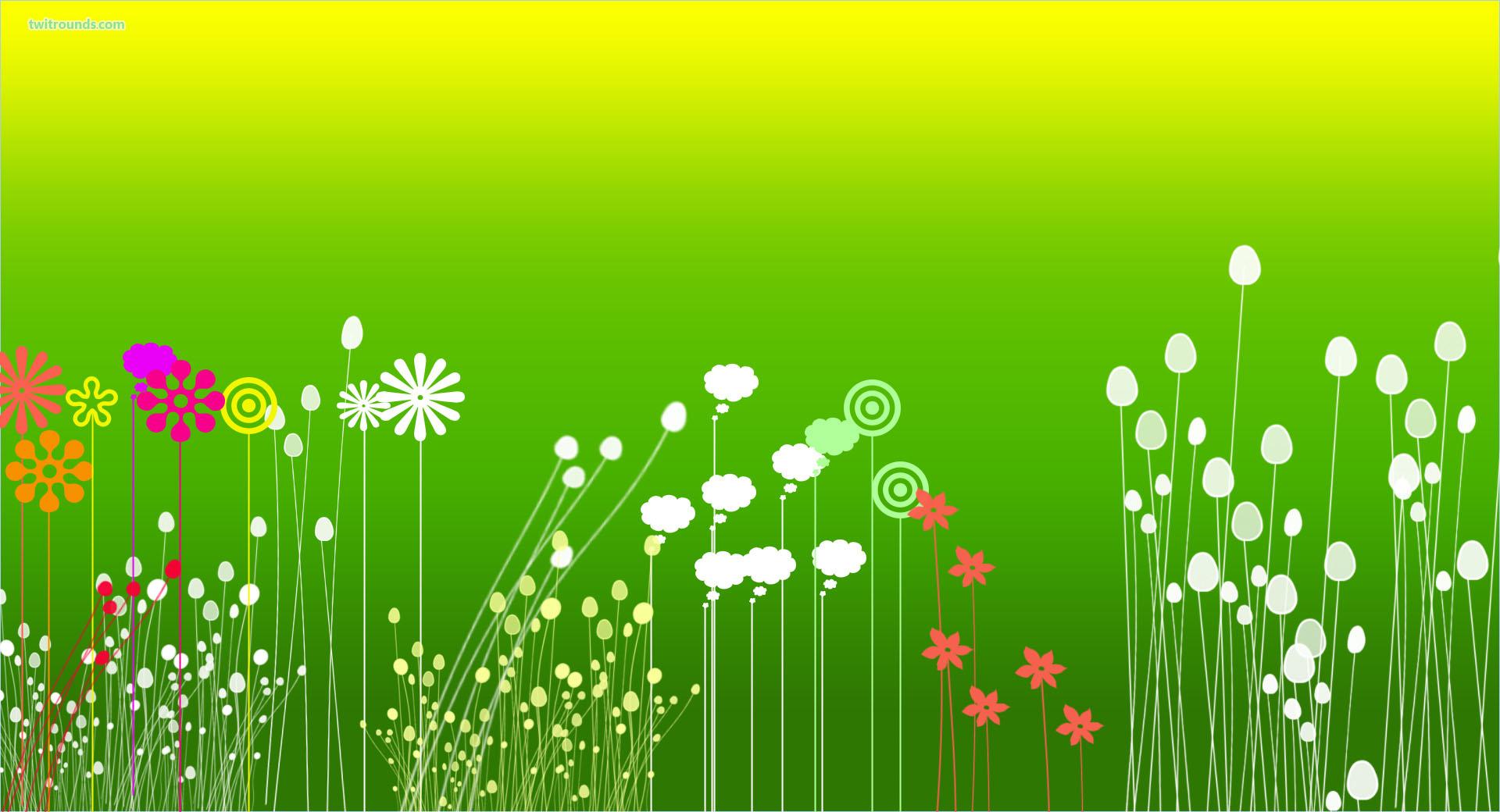green flower garden backgrounds wallpapers Sprouts Preschool 1920x1040