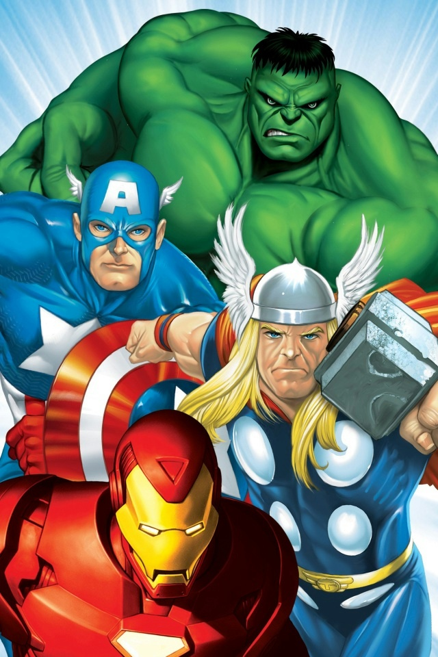 Marvel Heroes iPhone 4 Wallpaper and iPhone 4S Wallpaper 640x960
