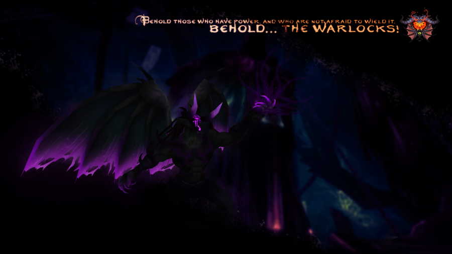 Warcraft Wallpaper Warlock by sangriaa 900x506