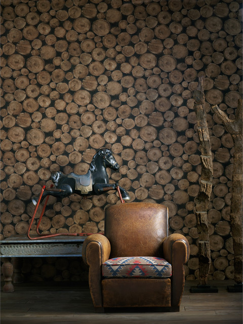 Rustic Lodge Wooden Log Ends Wallpaper Timber industrial wallpaper 480x640
