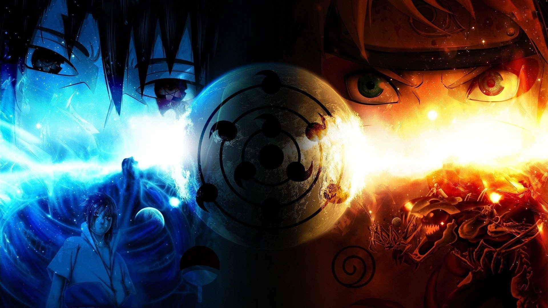 Naruto Fire And Ice HD Anime Wallpaper Desktop Wallpapers 4k High 1920x1080