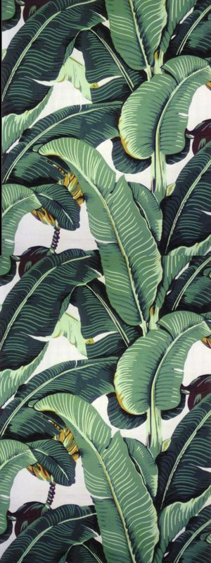 Banana Leaf Wallpaper and Fabric  Martinique Banana Leaf Fabric as 300x797