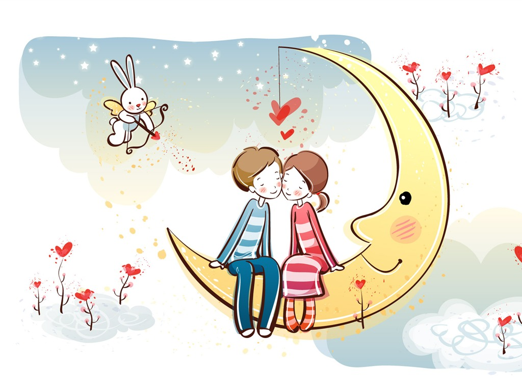 Cartoon valentine 39 s day wallpaper wallpapersafari - Cartoon valentine wallpaper ...